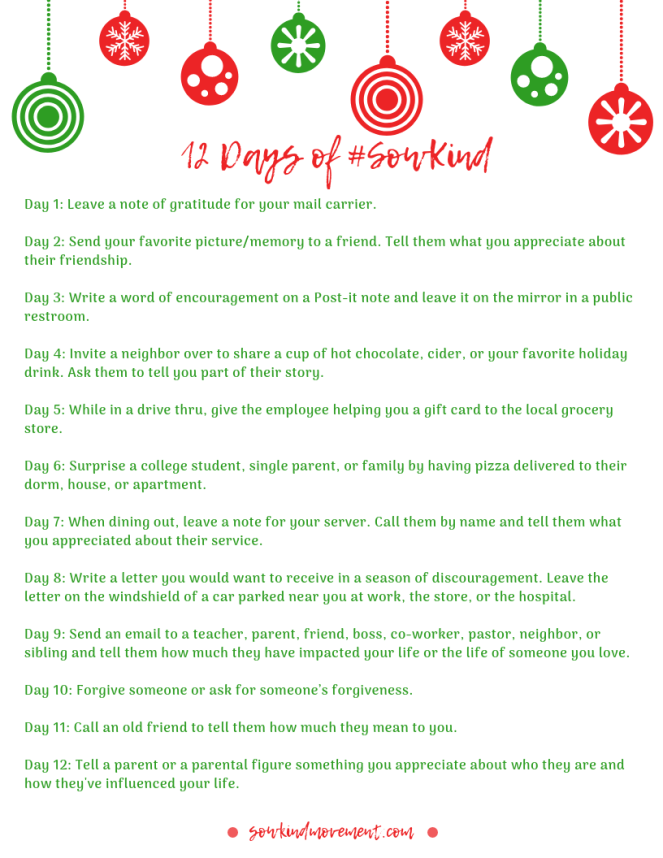 12 Days of #SowKind