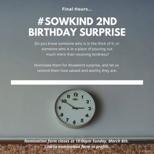 #Sowkind Surprise Reminder